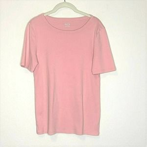 J Crew Perfect Fit Tee Pink Short Sleeve Cotton